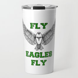 fly eagles fly philadelphia Travel Mug