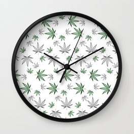 Weed Illustrated Wall Clock