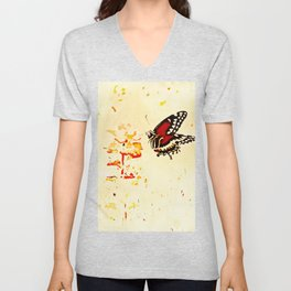 Swallowtail Coming In For A Landing Unisex V-Neck