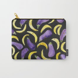 Eggplant & Bananas Carry-All Pouch