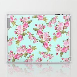 Pink & Mint Green Floral Laptop & iPad Skin