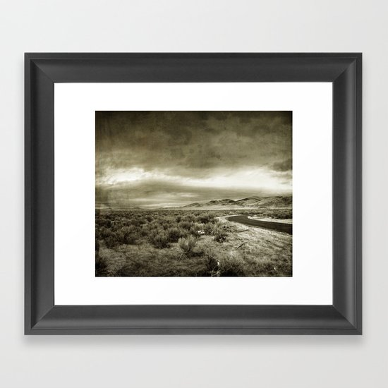 En route pour nulle part Framed Art Print