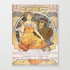 Vintage poster - Exposition Universelle & Internationale de St. Louis Canvas Print