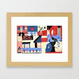 Drinking Framed Art Print