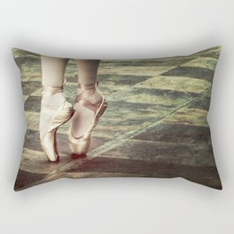 Dancing in the street. Feet of a ballet dancer. Rectangular Pillow