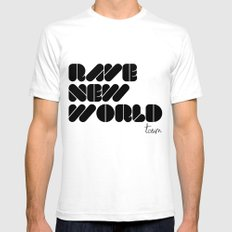 RAVE NEW WORLD SMALL White Mens Fitted Tee