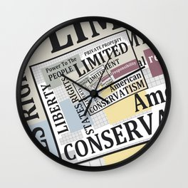 Limited Government Wall Clock