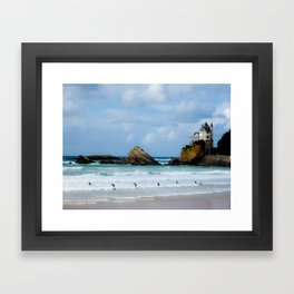 Biarritz Surfers Framed Art Print