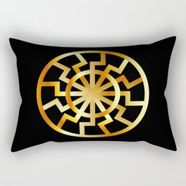 Black Sun symbol in gold- Schwarze Sonne- Occult subculture symbol Rectangular Pillow
