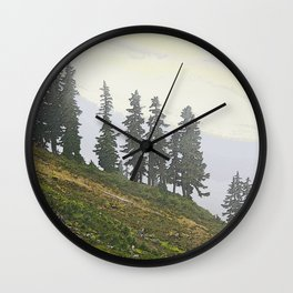 TIMBERLINE TREES Wall Clock