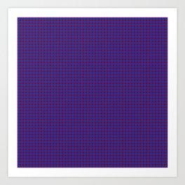 Burgundy and Navy Blue Polka Dot Pattern Art Print