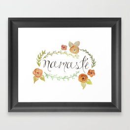 Namaste Floral Watercolor Framed Art Print