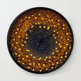 Close Up of a Sunflower Wall Clock