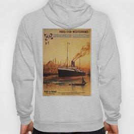 Vintage French Orient Shipping line Paris Mediterranean Hoody