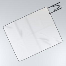 White Minimalist Picnic Blanket