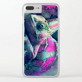 chameleon #chameleon #animals Clear iPhone Case
