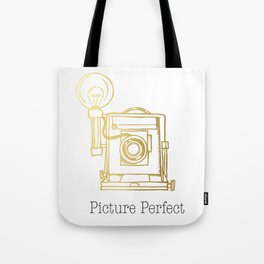 Gold Vintage Camera Picture Perfect  Tote Bag