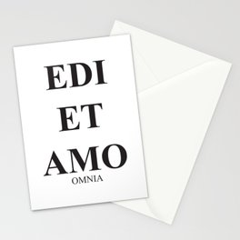 Latim words, Edi et Amo - Love and hate - Omnia Stationery Cards
