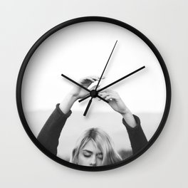 Hands in air Wall Clock