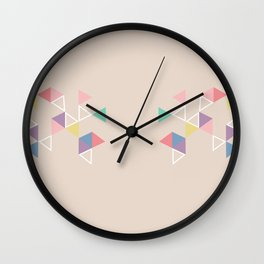 Geometric Tri Wall Clock