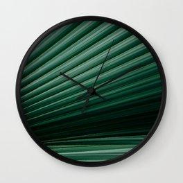 Tropical leaves 04 Wall Clock