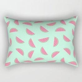 Seamless Watermelon Pattern Rectangular Pillow
