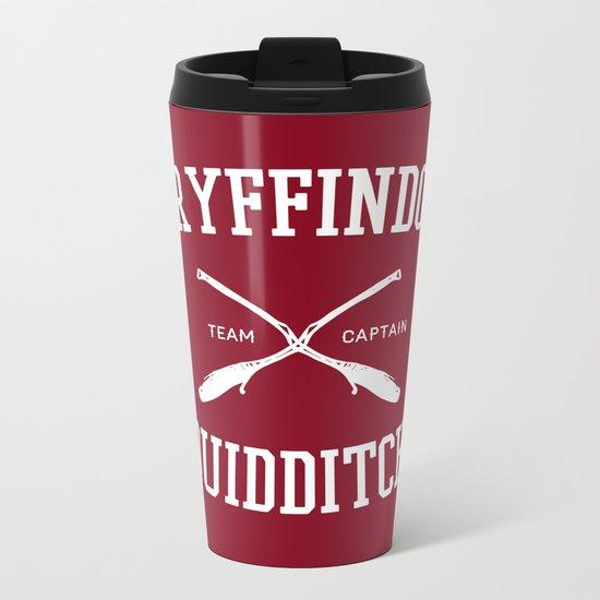 Hogwarts Quidditch Team: Gryffindor Metal Travel Mug