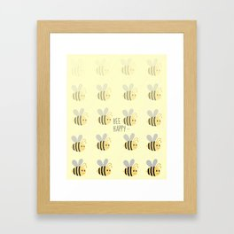 Bee Happy Framed Art Print