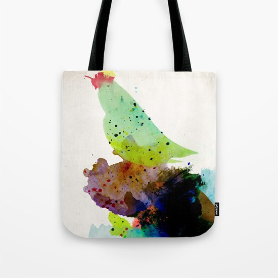 Bird standing on a tree Tote Bag