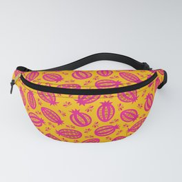 Tropical Seed Pods in Pink & Yellow Fanny Pack