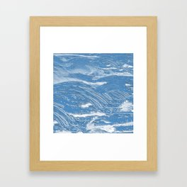 clear sea Framed Art Print