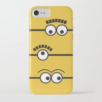 minions iPhone & iPod Cases featuring Minions by J Spiegel