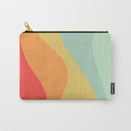 Abstract Color Waves - Bright Rainbow Carry-All Pouch