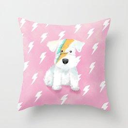 Ziggy the Schnauzer Throw Pillow