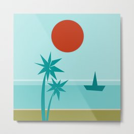 California Vibes Coolwater Metal Print