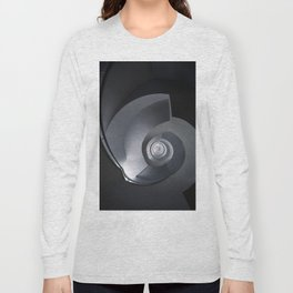 Modern spiral staircase in blue and grey tones Long Sleeve T-shirt