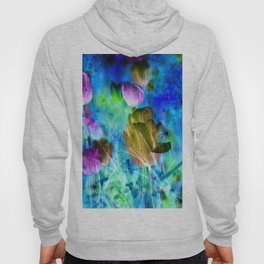 Blue Ocean of Tulips Hoody