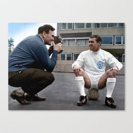 Bobby Collins and Don Revie Canvas Print
