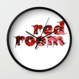 red room Wall Clock