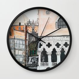 Venice architecture, Piazza San Marco, Dodge's Palace Wall Clock