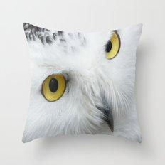 Snowy Owl Eyes Throw Pillow