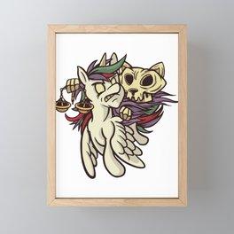 Famine Apocalypse Horsecat Framed Mini Art Print