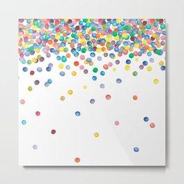 Colorful Watercolor Confetti Metal Print