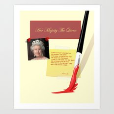 Her Majesty The Queen Art Print