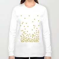 confetti Long Sleeve T-shirts featuring Golden Confetti by cafelab