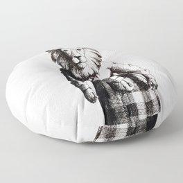 Lion in Kilt (Sketch) Floor Pillow