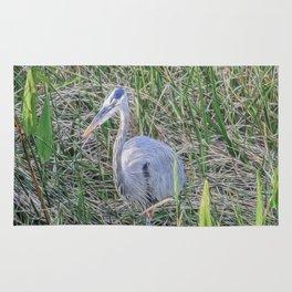 Hello Blue Heron Rug
