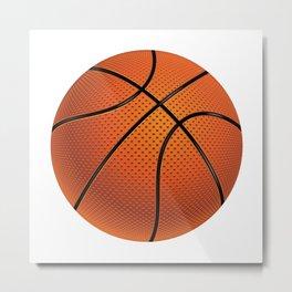 Basketball Ball Metal Print