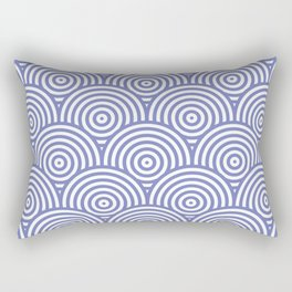 Geometric Scales Pattern - Purple & White #797 Rectangular Pillow