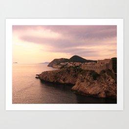 Dubrovnik at Sunset Art Print